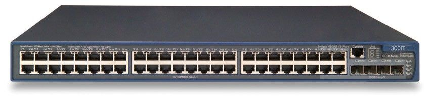 Коммутатор HP E4800-48G   Switch 48-Port(44x10BASE-T/100BASE-TX/1000BASE-T+ 4x10/100/1000 or SFP 100/1000, L2-3-4, OSPF, XRN, 19')(eq.3CRS48G-48-91)