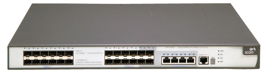 Коммутатор HP E5500-24G-SPF   Switch (20xSFP Gigabit + 4x Combo SFP Gigabit or 10/100/1000; 1 exp.slot, Managed, L3, VLAN 4096, XRN, 19')(eq.3CR17258-91)