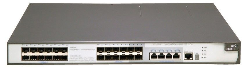 Коммутатор HP E5500-24G   Switch (20x10/100/1000 RJ-45, 4xCombo 10/100/100 RJ-45 or SFP;1 exp.slot, Managed, L3, VLAN 4096, XRN, 19')(eq.3CR17250-91)