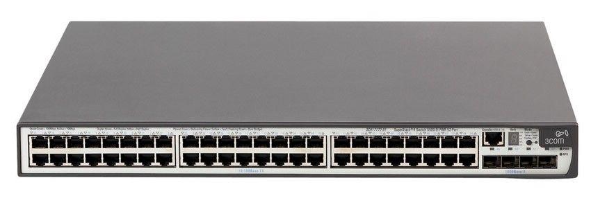 Коммутатор HP E5500-48G   Switch (44x10/100/1000 RJ-45, 4xCombo 10/100/100 RJ-45 or SFP;1 exp.slot, Managed, L3, VLAN 4096, XRN, 19')(eq.3CR17251-91)