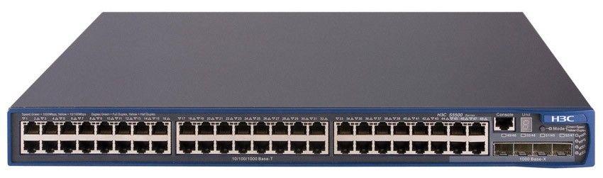 Коммутатор HP E5500-48   Switch (48x10/100 RJ-45, 4xGigabit SFP; Managed, L3, Stackable, 19'XRN)(eq.3CR17162-91)