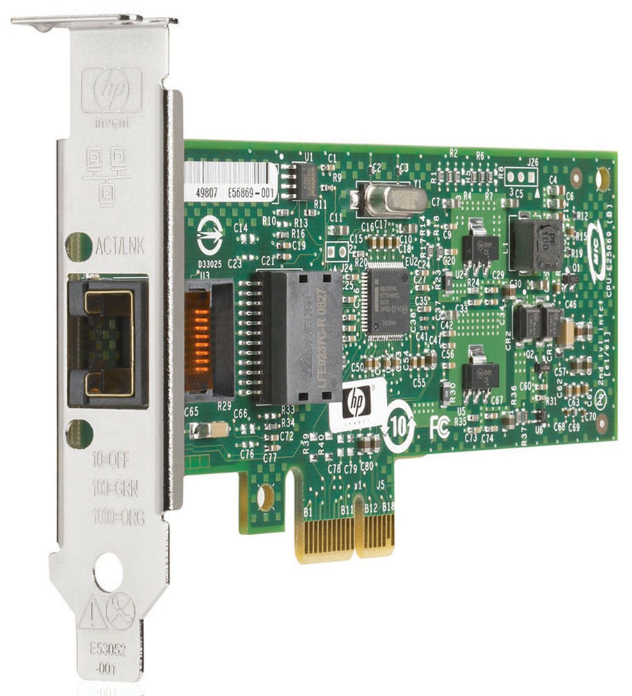 Сетевая плата HP NC112T PCI Express x1 10/100/1000T Gigabit Server Adapter (incl. low-profile bracket)