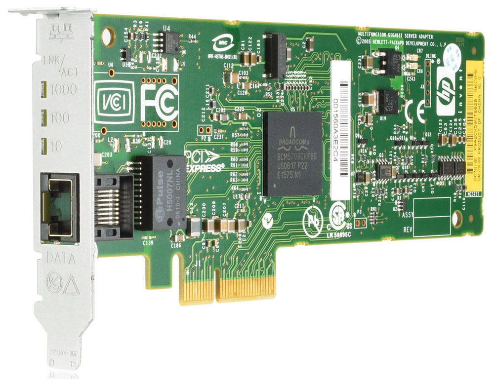 Сетевая плата HP NC373T PCI Express Multifunction 10/100/1000 Gigabit Server Adapter (supports TOE, iSCSI, RDMA)