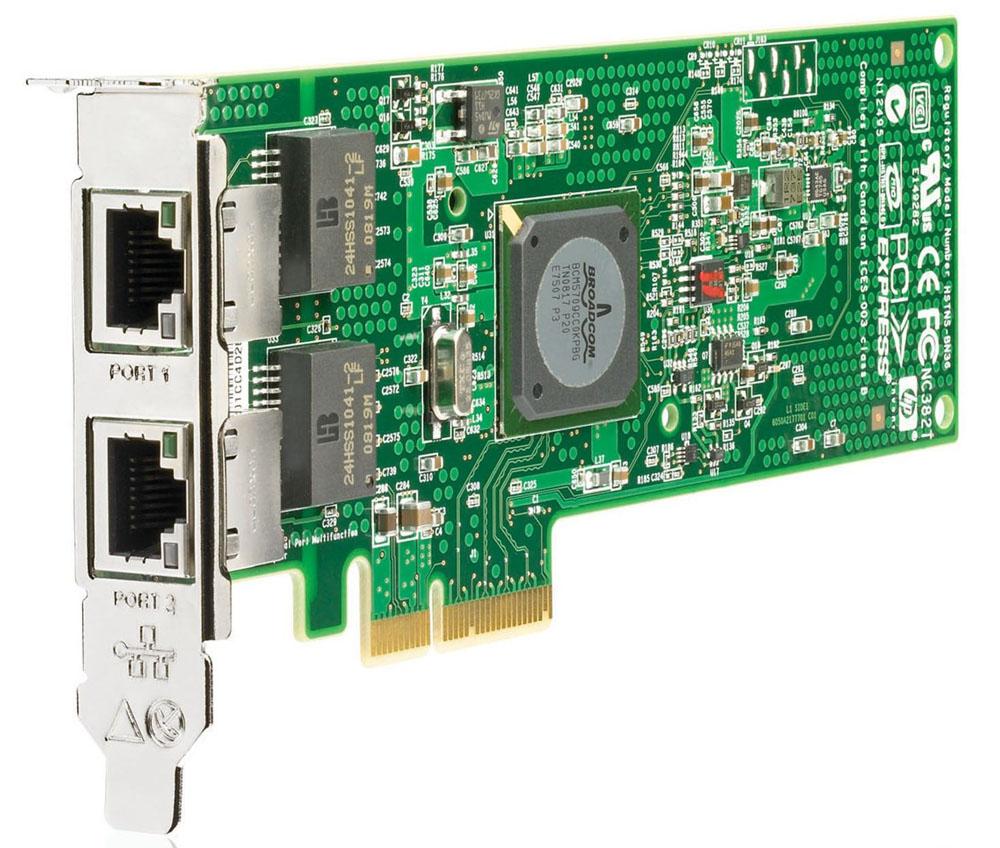 Сетевая плата HP NC382T PCI Express Dual Port Multifunction Gigabit Server Adapter (incl. low-profile bracket)