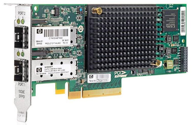 Сетевая плата HP Server Adapter, NC550SFP, 10GbE 2-port