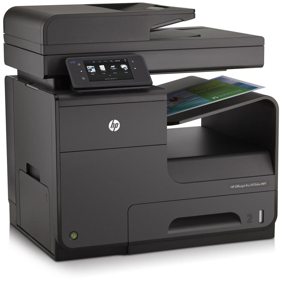 Цветное струйное МФУ HP Officejet Pro X476dw MF Printer (p/c/s/f/web, A4, 600(2400dpi), 36(36 up 55)ppm, Duplex, 2trays 50+500, ADF50, USB2.0/GigEth/WiFi, cartriges 2500ppm, 1y war)