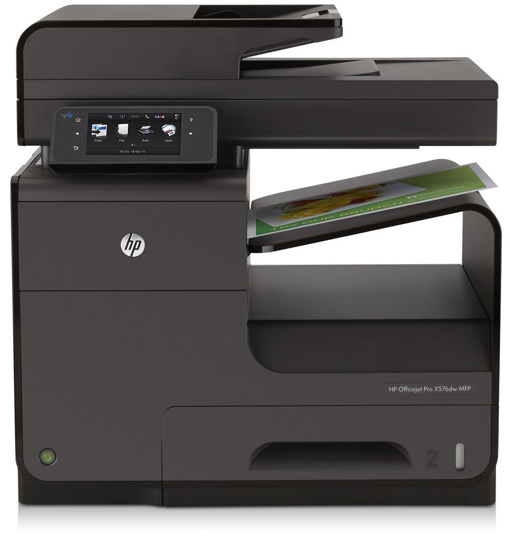 Цветное струйное МФУ HP Officejet Pro X576dw MF Printer (p/c/s/f/web, A4, 600(2400dpi), 42(42 up 70)ppm, Duplex, 2trays 50+500, ADF50duplex, USB2.0/GigEth/WiFi, cartriges 2500ppm, 1y war)