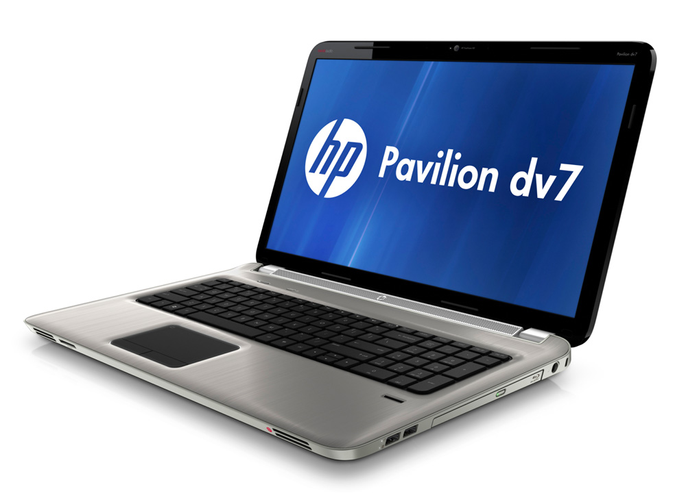 Ноутбук HP Pavilion dv7-6b01er 17.3-inch(1600x900), AMD A6 3410MX(1.6Ghz), 4096Mb, 640Gb, DVDrw, Ext:AMD Radeon HD6755G2(1024Mb), Cam, BT, WiFi, 4400mAh, war 1y, 3.43kg, Metal steel gray, W7HP64