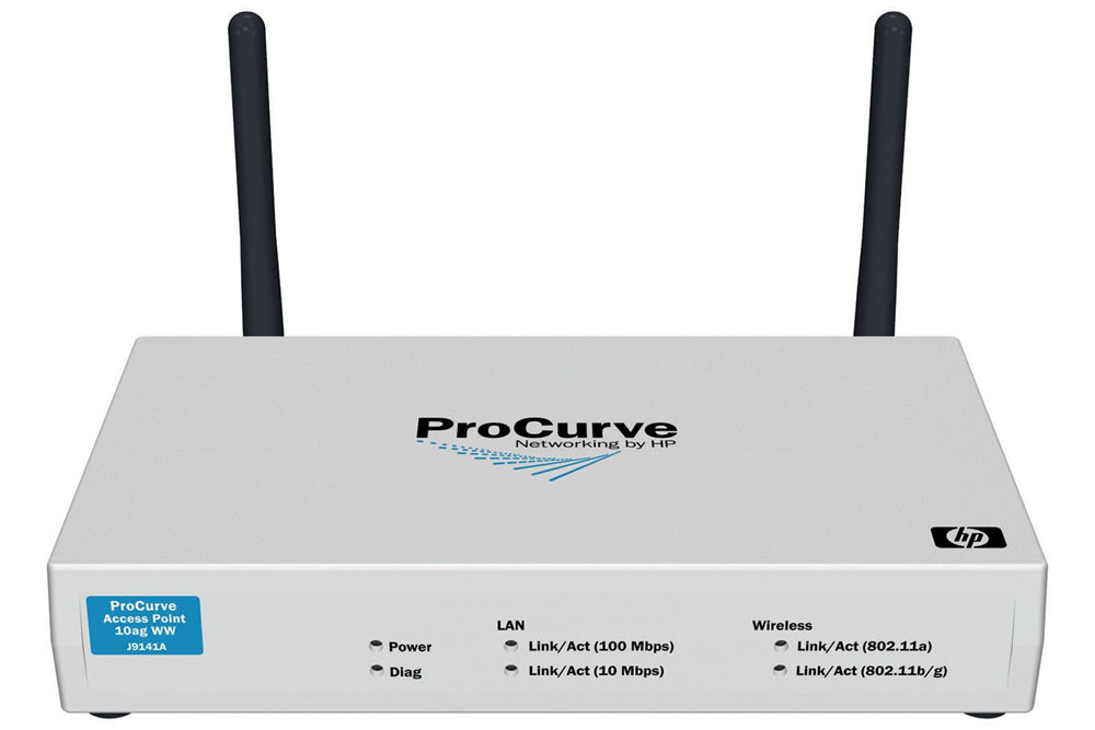 Беспроводная точка доступа HP ProCurve Wireless Access Point 10ag Dual-Radio (support 802.11a, 802.11b, 802.11g and PoE)