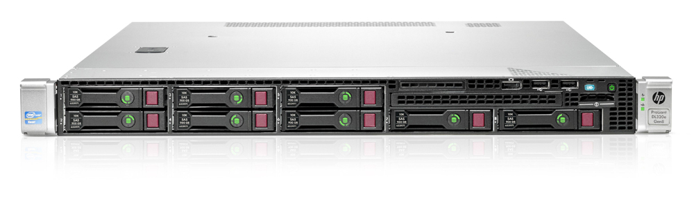 Сервер HP Proliant DL320e Gen8 Server   E3-1240v2 Hot Plug Tower(1U), Xeon4C 3.4GHz(8Mb), 2x4GbUD, P222(512Mb, RAID0, 1, 1+0, 5), noHDDSATA(4)LFF, iLO ME, 2xGigEth, 1xRPS350W(NHP)