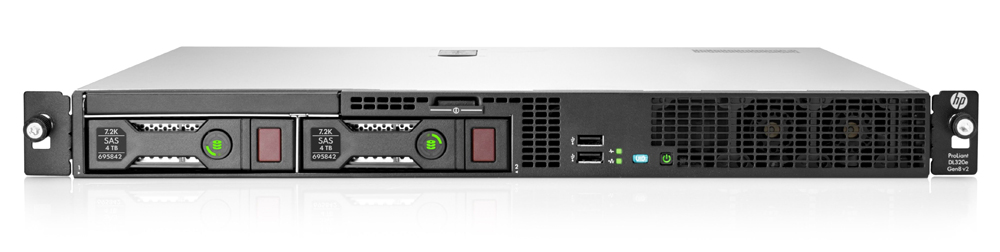 Сервер HP Proliant DL320e Gen8 v2 Server   Rack 1U, Intel Xeon E3-1230v3 (3.3GHz/4-core/8MB/80W, HT), RAM 1x4Gb Unbuffered DIMMs PC3-12800E (1600MHz), HP Dynamic Smart Array B120i Controller (ZeroMemory, SATA, RAID 0/1/1+0), 2 bay LFF non Hot Plug Drive Cage, noDVD, HP iLO Management Engine standard, HP Ethernet 1Gb 2-port NC332i Adapter, 350 Watts Non-Hot Plug Non redundant Power Supply, no rail kits