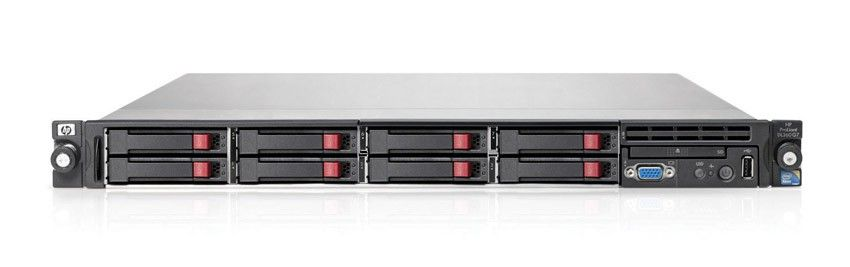 Сервер HP ProLiant DL360 G7 Server   Rack 1U, Intel Xeon Six-Core Processor E5645 (2.40 GHz, 12MB L3 Cache, 80 Watts, DDR3-1333, HT Turbo 1/1/1/1/2/2), RAM 3x2Gb Registered DIMMs, RAID P410i/256Mb (RAID 5/5+0/1+0/1/0), SAS/SATA SFF Hot-Plug Drive Cage (max 4(8upgr) SFF HDD), noDVD, iLO3 std, 4xGigabit Ethernet, 1xRPS 460Watt
