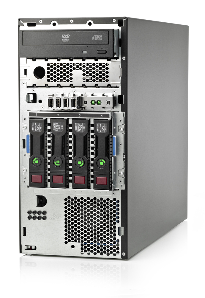 Сервер HP Proliant ML310e Gen8 Server   v2 E3-1240v3 Hot Plug Tower(4U), Xeon4C 3.4GHz(8Mb), 1x8GbUD, B120i(SATA, ZM, RAID0, 1, 1+0), 1x500Gb(4)LFF, DVD-RW, iLO4std, 2x1GbEth, 1xRPS460HE(2up)