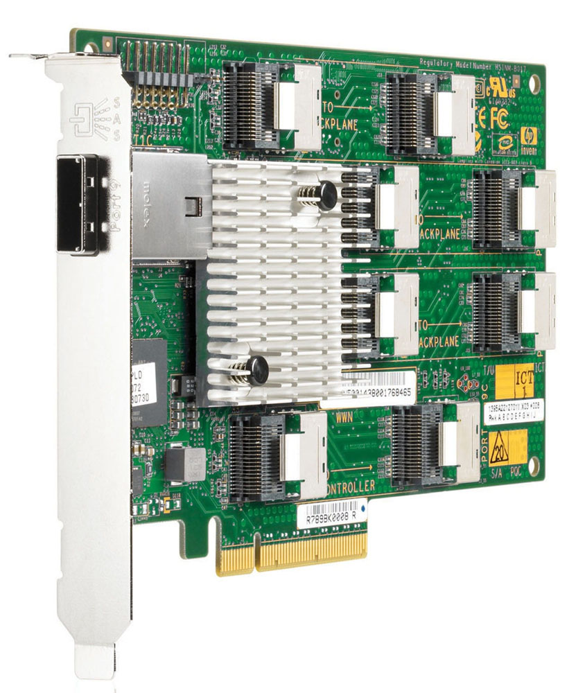 HP SAS Expander Card (For use with additional 8 SFF drive cage 516914-B21).