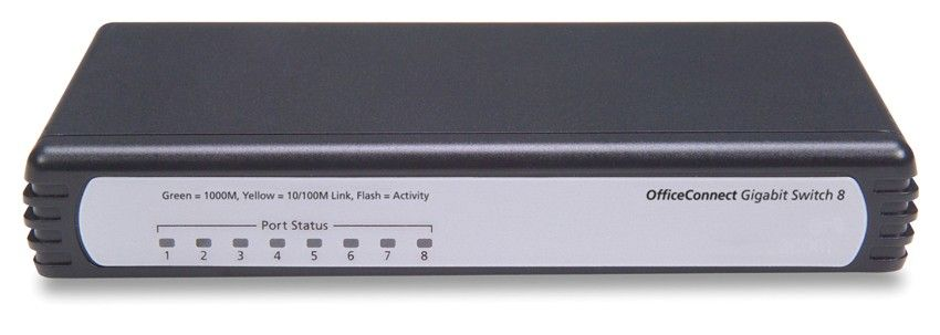 Коммутатор HP 1405C-8G Switch (8 ports 10/100/1000 RJ-45, Unmanaged) (eq.3C1670800C)