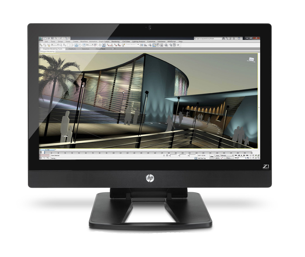 Графическая станция - моноблок HP Z1 Monoblock Workstation   27  LED backlit IPS Display, Xeon E3-1245 4GB(2x2GB)DDR3-1600 ECC, 500GB SATA 7200 HDD, DVD+RW, Intel P3000, USB Opt mouse, keyboard, Win7Prof 64