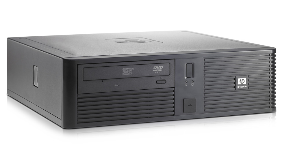 Кассовый терминал HP rp5700 POS Pentium Dual Core E2160 1.8GHz, 2GB DDR2 PC2-6400(sng ch), 250GB SATA 3.0 HDD, DVD+/-RW, GigEth,kbd/mse opt, Win7Pro 32-bit