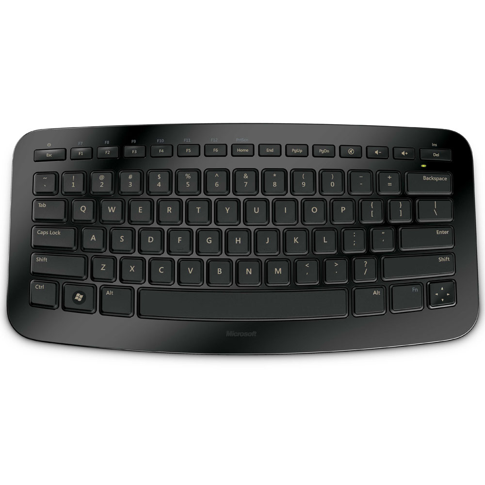 Microsoft Wireless Arc Keyboard, Black