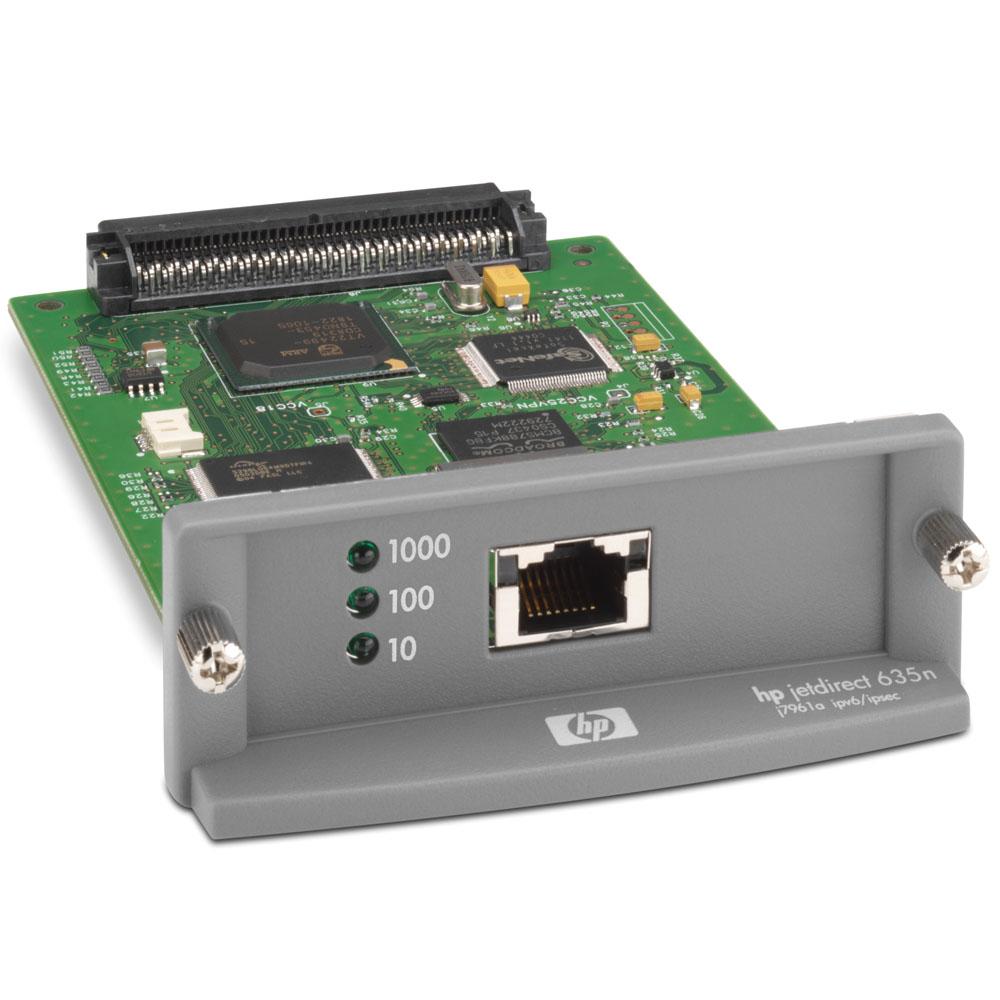 Сервер печати HP Jetdirect 635n IPv6/IPsec support IPv6,IPv4 and Ipsec (10/100/1000tx, EIO, replace J7961A)