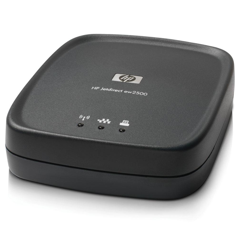 Сервер печати HP Jetdirect ew2500 Wireless External Print Server(Ethernet 802.11g, b, Ethernet, Fast Ethernet 802.3 RJ45(10, 100Base-TX), USB, repl. J7942G, J7951G, J7988G)