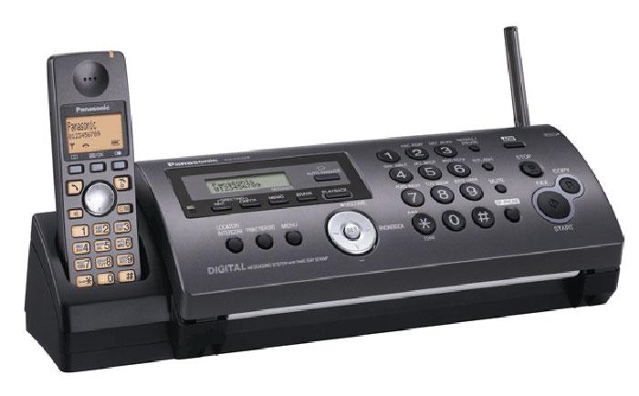 Факс Panasonic KX-FC228RU-T (титановый черный) {на обыч.бум., автопод 10л., а/отв.,спикерфон,трубка DECT}