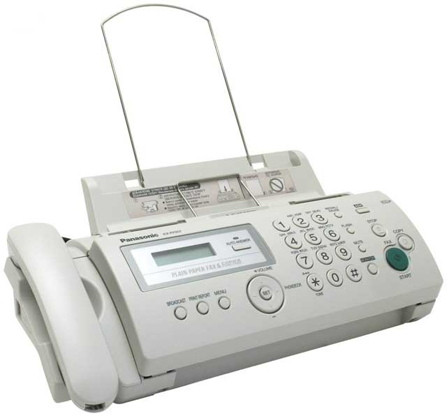 Факс Panasonic KX-FP207RU (серый) { обыч. бумага, АОН, память 50 ном., до 28 стр.,автоподатчик 10 л., спикерфон}