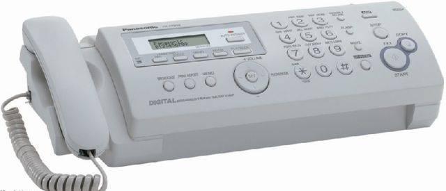 Факс Panasonic KX-FP218RU (серый) {обыч.бум., АОН, а/отв., пам. 50 ном., до 28 стр.,автоподатчик 10л.,спикерфон}