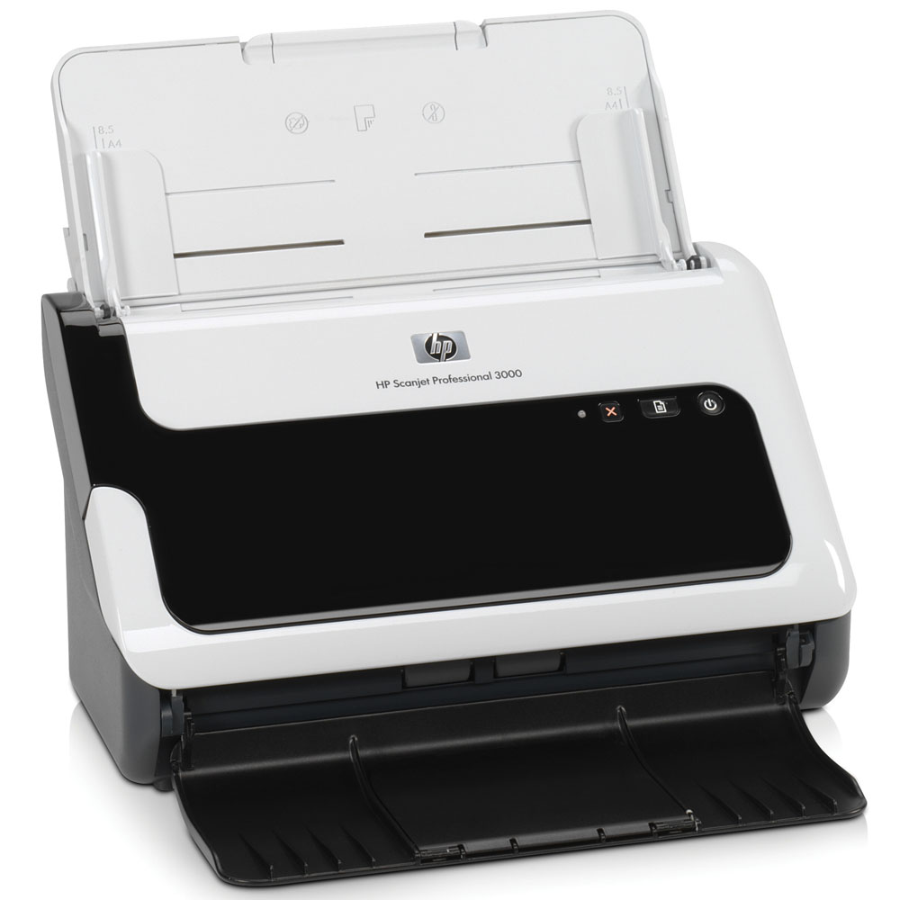 Сканер HP Scanjet Professional 3000 Sheetfeed Scanner (CIS, A4, 600x600dpi, 48bit, USB, ADF 50 sheet, 20(40)ppm, Duplex, small footprint, replace L1983A)