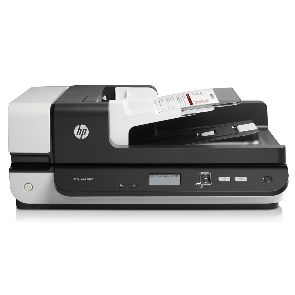 Сканер HP Scanjet Enterprise 7500 Flatbed Scanner (216x864 mm, 600x600dpi, 24bit, USB, LCD, ADF 100 sheets, 50(100) ppm, Duplex, replace L2689A, L2690A)