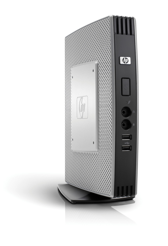 Тонкий клиент HP t5740 Atom N280 1.6GHz 2GB flash, 1GB WinES, keyb, mouse (repl VU899AA)