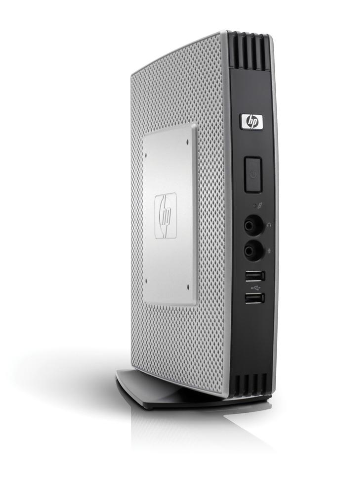 Тонкий клиент HP t5740   Atom N280 1.6GHz 2GB flash, 1GB WinES, keyb, mouse (repl VU899AA)