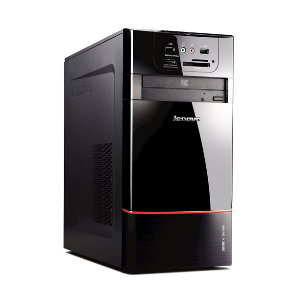 Персональный компьютер Lenovo IdeaCentre H220, DESKTOP E5500(2,8GHz), 2GB, 320GB, ATI HD5450(512Mb), DVD-SM, WiFi, W7HB, Black