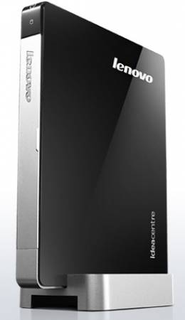 Персональный компьютер Lenovo IdeaCentre Q180A NETTOP Atom D2550 (1.86GHz), RAM 4Gb, HDD 750Gb, ATI HD7450 512Mb, WiFi, DOS, black