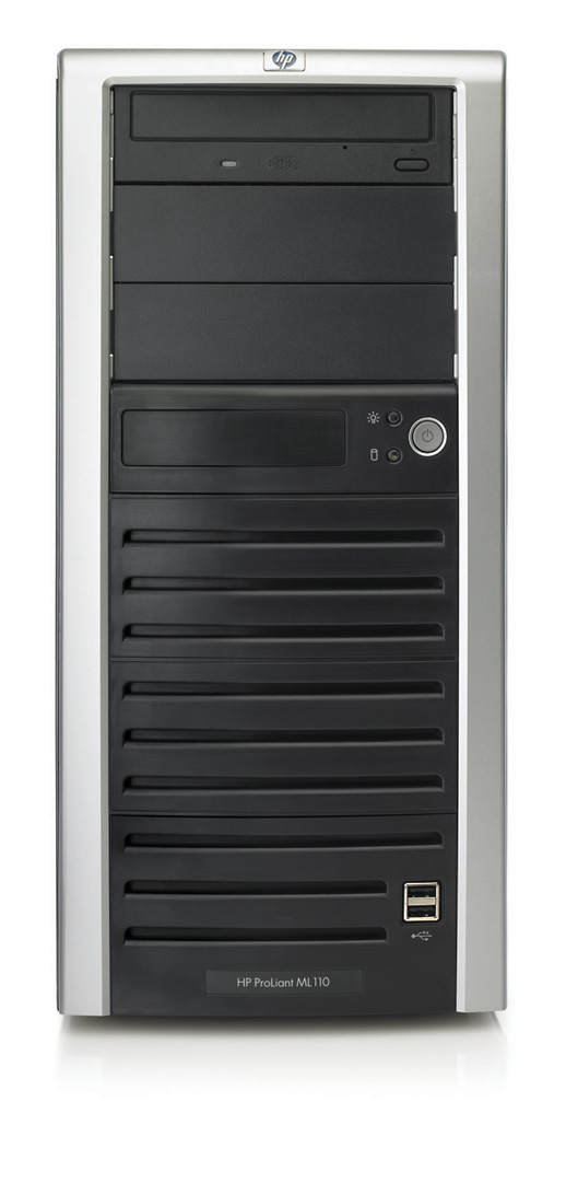 Сервер HP ProLiant ML110 G2 Server Celeron-2.8/256kb/533MHz, 256Mb, 80Gb SATA, (max 4x80Gb), NHP, 5/5 PCI, CD, noFDD, Gigabit NIC