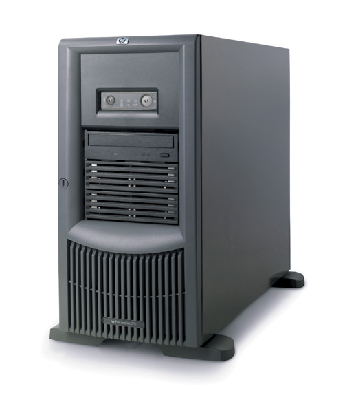 Сервер HP ProLiant ML370 G4 Server Tower XeonDP-3.4/2Mb/800MHz, 2x512Mb PC2-3200/400MHz, HDD max. 8x72Gb SAS, SA P600/256Mb BBWC, Сервер HP, 5/6 PCI, CD, FDD, Gigabit NIC