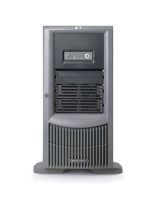 Сервер HP ProLiant ML370 G4 Server Tower XeonDP-3.2/2Mb/800MHz,   1Gb PC3200/400MHz, Ultra320-SCSI (max. 6x300Gb+2x300Gb), HotPlug, 6/6 PCI, CD, FDD, Gigabit NIC