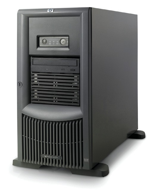 NAS сервер HP ProLiant ML370 G4 Storage Server Tower 5U Xeon DP-3.4/1Mb/800MHz, 1Gb (max 4x1Gb), 2x36.4Gb (os) 15000 rpm Ultra320-SCSI, RAID 0/1/5/0+1, SCSI, SA6402/128Mb BBWC, NAS сервер HP, 6/6 PCI, FDD, DVD, NIC, Windows Storage Server 2003 (SMB/CIFS, NFS, NCP, AppleTalk, HTTP, FTP protocols)