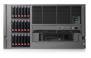 Сервер HP ProLiant ML570 G4 Server Rack 6U Dual Xeon DualCore 3.0GHz/2x2Mb, 4x1Gb, SAS SFF HotPlug Drive Cage (max 18 SFF HDD), RAID P400 with BBWC 512Mb (0/1/5), DVD/CDRW, noFDD, iLO2, Dual Gigabit Ethernet, Redundant Power Supply, Redundant FANs