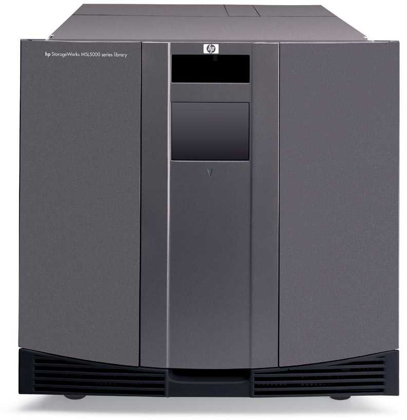 Ленточная библиотека HP StorageWorks MSL5052S2 Tape Library SDLT 320 2 Drives (max 4 drives), 52 media slots, FC, Rack 10U