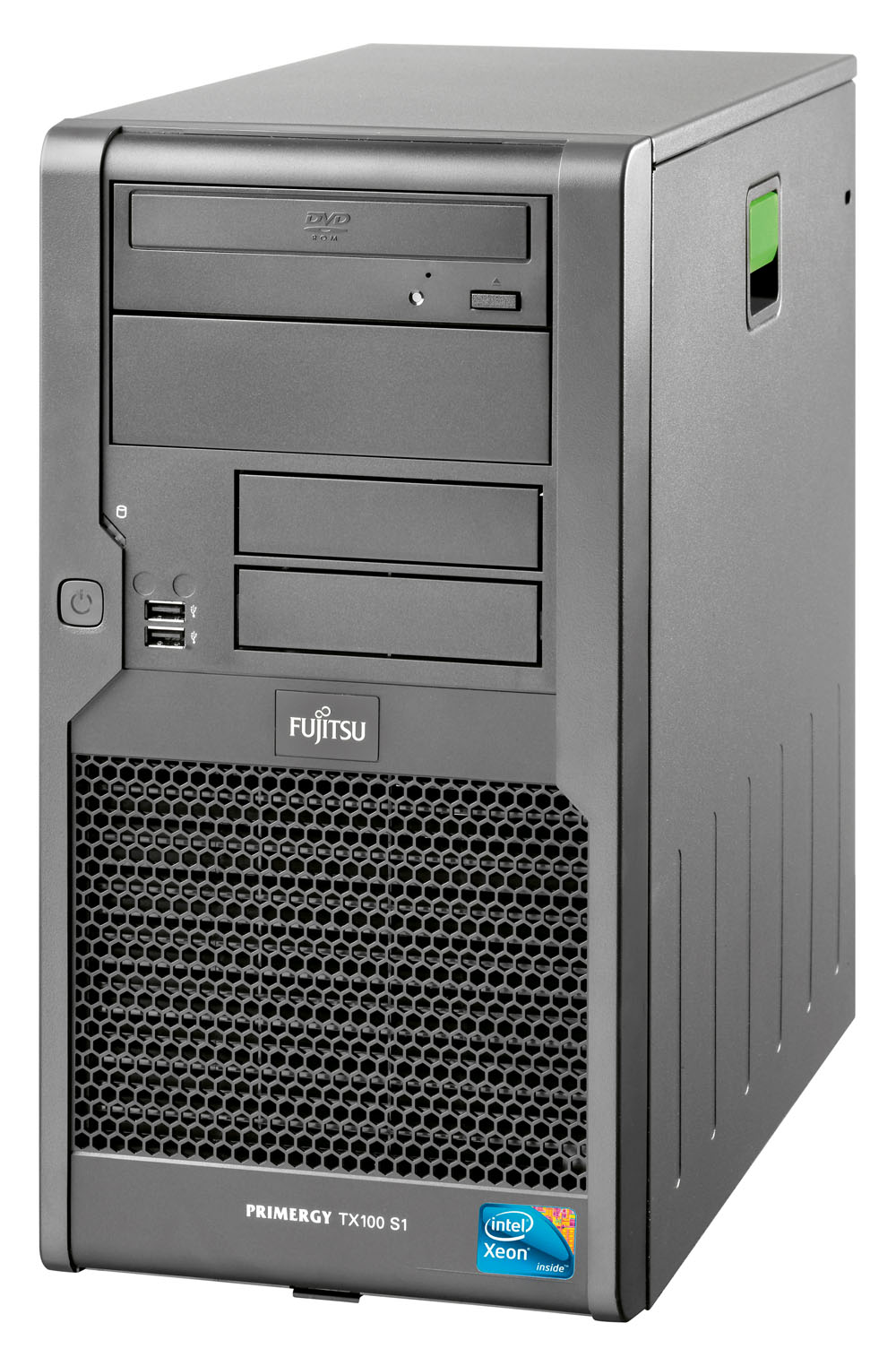 Сервер Fujitsu PRIMERGY TX100S1 x3220 NHP SATA (Tower XeonQC2.4GHz(8Mb), 2x2GB, 2x500GB nhp SATA(up to 4), RAID 0,1, DVDRW, GigEth, noTPM, noPwrCord)