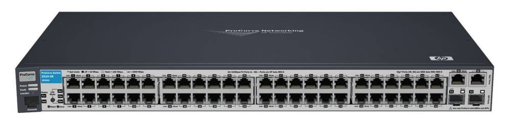 Управляемый коммутатор HP ProCurve Switch 2510-48 (48 ports 10/100 + 2 10/100/1000 + 2 GBICs, Managed, Layer 2, Stackable 19-inch)