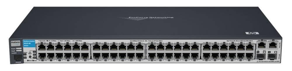 Управляемый коммутатор HP ProCurve Switch 2510-48   (48 ports 10/100 + 2 10/100/1000 + 2 GBICs, Managed, Layer 2, Stackable 19 )