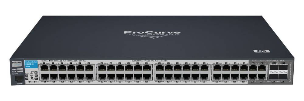 Коммутатор HP ProCurve Switch 2510G-48   (44 ports 10/100/1000 + 4 10/100/1000 or 4 mini-GBICs, Managed, Layer 2, Stackable 19 )