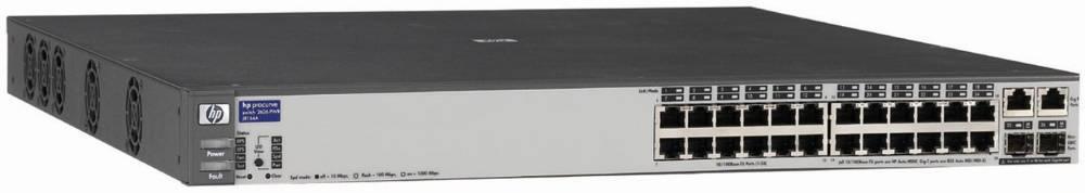 Коммутатор HP ProCurve Switch 2626-PWR   1U (24x10/100, 2 ports 10/100/1000 or mini-GBIC, 9.6Gb/s, RPS)