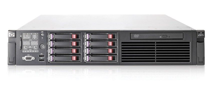 Сервер HP ProLiant DL380 G7 Server Rack 2U, Intel Xeon Processor E5620 (2.40 GHz, 12MB L3 Cache, 80W, DDR3-1066, HT, Turbo 1/1/2/2), RAM 3x4Gb Registered Dual Rank DIMMs, RAID P410i/512Mb with BBWC (RAID 5+0/5/1+0/1/0), 3x146Gb10kHDD(8(16up))SFF, DVDRW, iLO3std, 4xGigEth, 1xRPS460HE