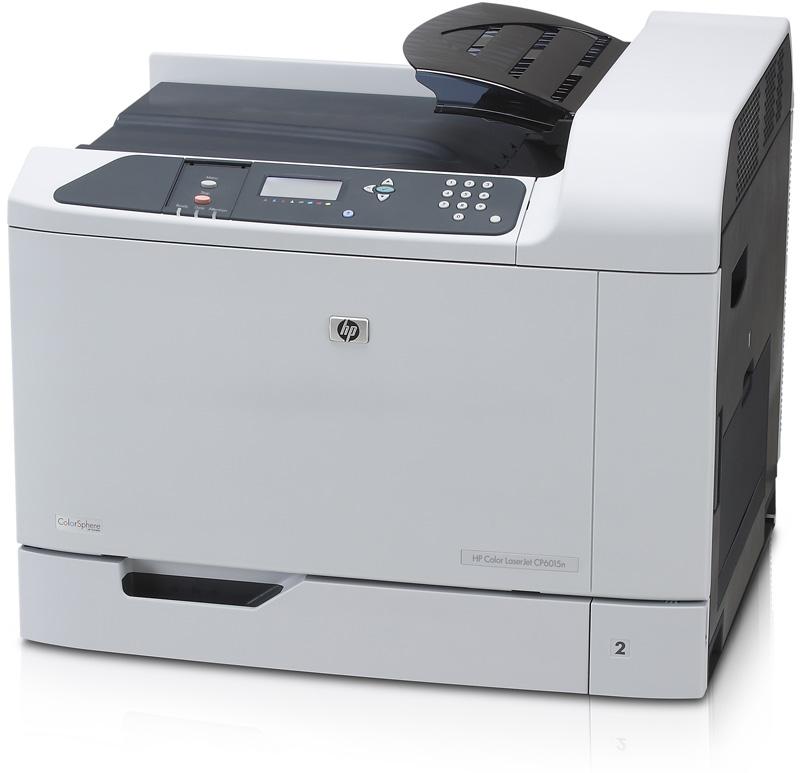 Цветной лазерный принтер HP Color LaserJet CP6015dn (A3, 600dpi, ImageREt 4800, 41(41) ppm, 512Mb, 2trays 500+100, Duplex, USB/GigEth/2xEIO, 4cartriges)