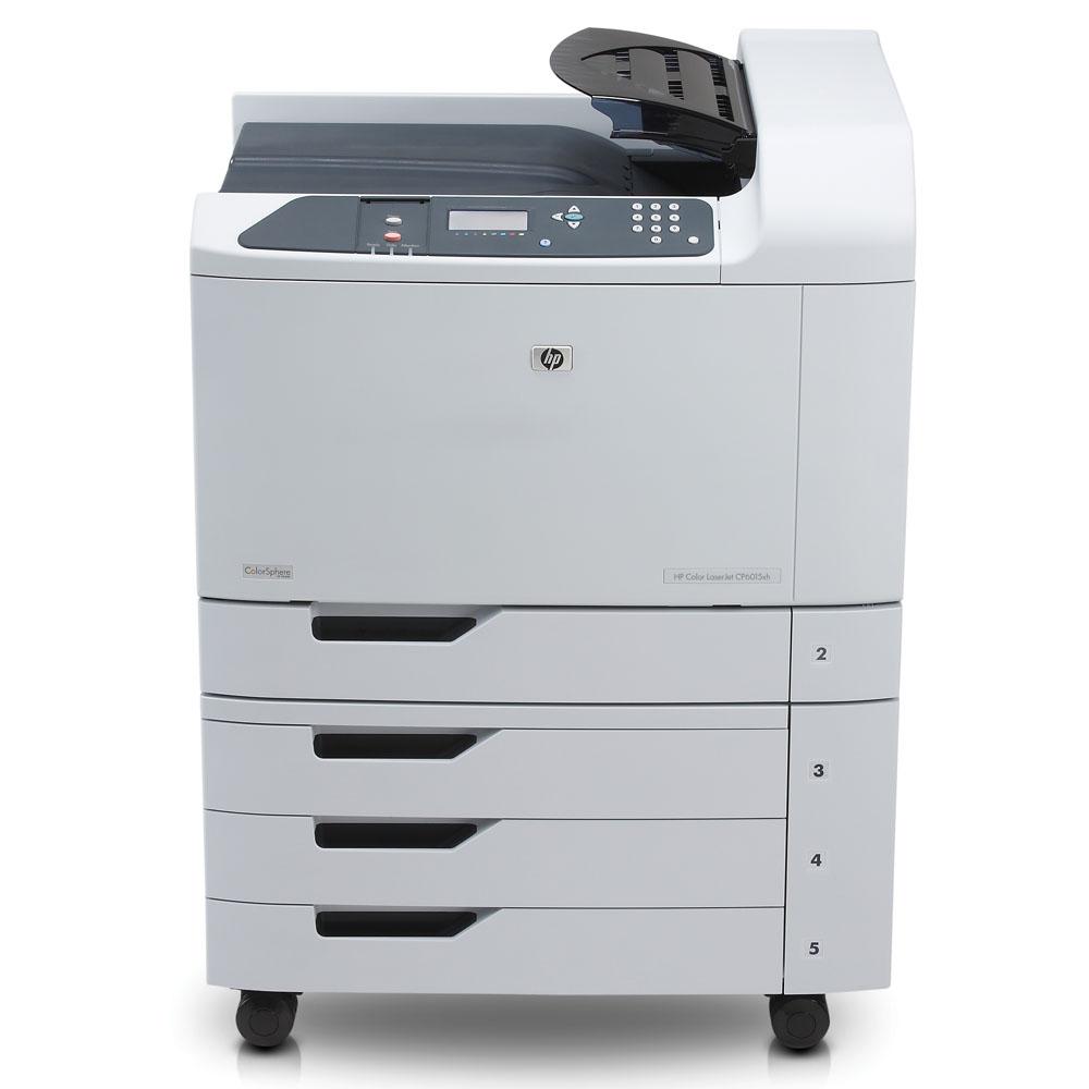 Цветной лазерный принтер HP Color LaserJet CP6015xh (A3, 600dpi, ImageREt 4800, 41(41) ppm, 512Mb, 5trays 4*500+100, duplex, HDD 40Gb, USB/GigEth/2xEIO, 4cartriges)