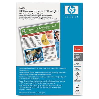 Мягкоглянцевая профессиональная бумага HP для лазерной печати, 120 г/ м2, A4, 200 листов