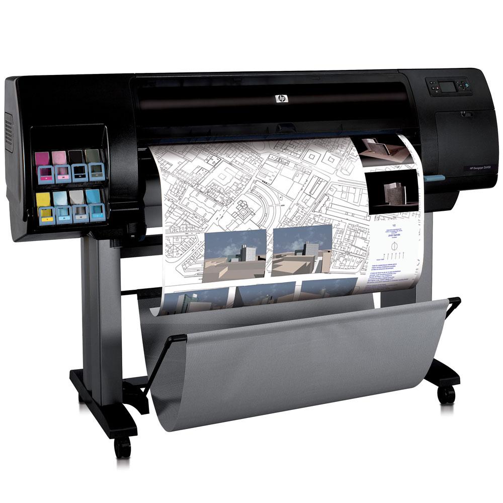 Широкоформатный принтер (плоттер) HP Designjet Z6100 (42-inch, 2400x1200dpi, 256Mb, 60,8 m2\h economic, GigEth/EIO, stand, sheetfed, roll feed, autocutter, 8 cartridge/4 head)