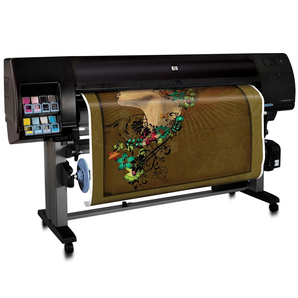 Широкоформатный принтер (плоттер) HP Designjet Z6100 (60-inch, 2400x1200dpi, 512Mb, 66,9 m2\h economic, GigEth/EIO, stand, sheetfed, roll feed, autocutter, 8 cartridge/4 head)